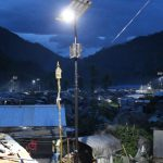 Nepal July 2019. A scene of Solar Street lights in the evening-min